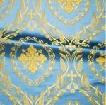 Patras metallic brocade (blue/gold)