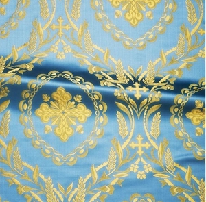 Patras metallic brocade (blue/gold)