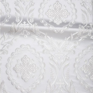 Patras metallic brocade (white/silver)