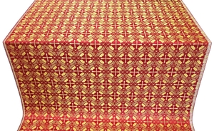 Big Cross metallic brocade (red/gold)