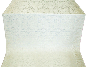 Trinity metallic brocade (white/silver)