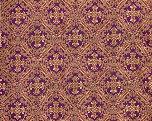 Pharos metallic brocade (violet/gold)