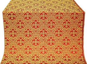 Pharos metallic brocade (red/gold)