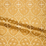 Irakli metallic brocade (white/gold)