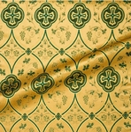 Irakli metallic brocade (green/gold)