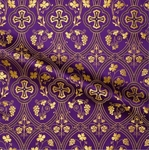 Irakli metallic brocade (violet/gold)