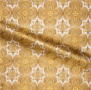 Colchis metallic brocade (white/gold)