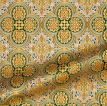 Colchis metallic brocade (green/gold)