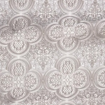 Colchis metallic brocade (white/silver)