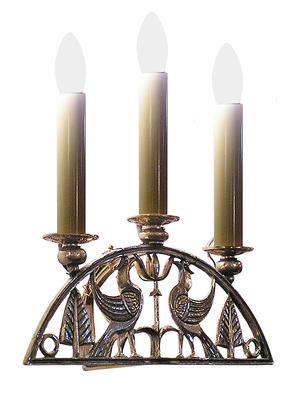 """Church wall lamp """"Birds"""" (3 lights)"""