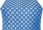 Mira Lycia silk (rayon brocade) (blue/silver)