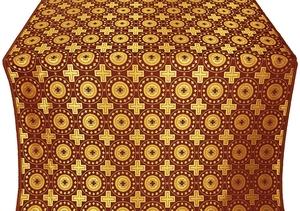 Mira Lycia silk (rayon brocade) (claret/gold)