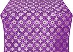 Mira Lycia silk (rayon brocade) (violet/silver)