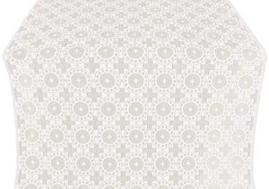 Mira Lycia silk (rayon brocade) (white/silver)