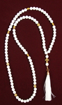 Orthodox prayer rope 100 knots - White agate