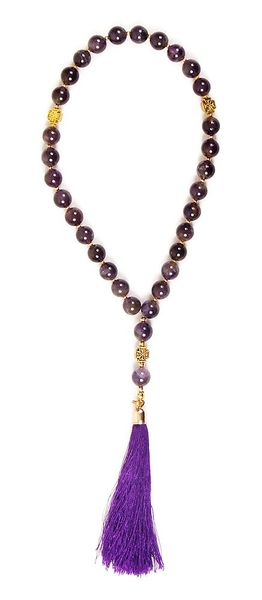 Orthodox prayer rope 30 knots - Amethyst