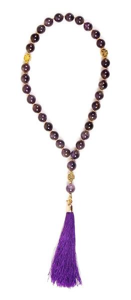 Orthodox prayer rope 30 knots - Amethyst
