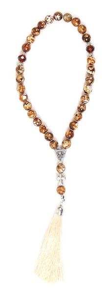 Orthodox prayer rope 30 knots - Tiger agate
