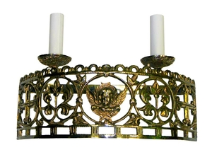 Church 2-light semi-round sconce with Angel