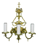 Church 3-light sconce with cross