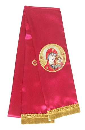 Embroidered bookmark Theotokian