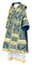 Bishop vestments - Alania metallic brocade B (blue-gold), Standard design