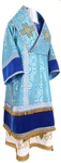 Bishop vestments - metallic brocade B (blue-gold)