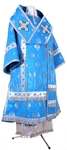 Bishop vestments - metallic brocade B (blue-silver)