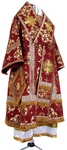 Bishop vestments - metallic brocade B (claret-gold)