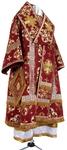 Bishop vestments - metallic brocade B (claret-gold)