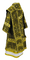 Bishop vestments - Theophania metallic brocade B (black-gold) back, Standard design