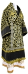 Bishop vestments - metallic brocade B (black-gold)