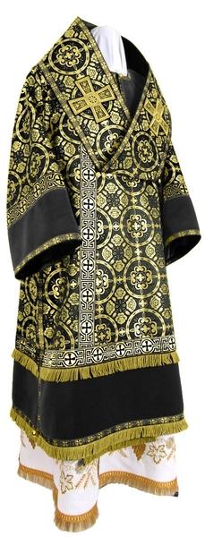 Bishop vestments - metallic brocade B (black-gold)