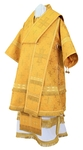 Bishop vestments - metallic brocade B (yellow-gold)