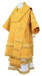 Bishop vestments - metallic brocade B (yellow-gold)