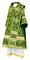 Bishop vestments - Alania metallic brocade B (green-gold) back, Standard design