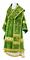 Bishop vestments - Theophania metallic brocade B (green-gold) back, Standard design