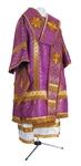Bishop vestments - metallic brocade B (violet-gold)
