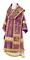 Bishop vestments - Theophania metallic brocade B (violet-silver), Standard design
