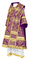 Bishop vestments - Alania metallic brocade B (violet-silver), Standard design
