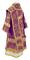 Bishop vestments - Theophania metallic brocade B (violet-silver) back, Standard design
