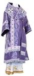 Bishop vestments - metallic brocade B (violet-silver)