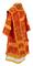 Bishop vestments - Theophania metallic brocade B (red-gold) back, Standard design