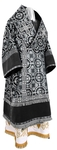 Bishop vestments - metallic brocade B (black-silver)