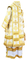 Bishop vestments - Kolomna metallic brocade B (white-gold), Standard design, back
