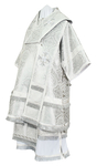 Bishop vestments - metallic brocade B (white-silver)