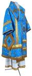 Bishop vestments - metallic brocade BG1 (blue-gold)