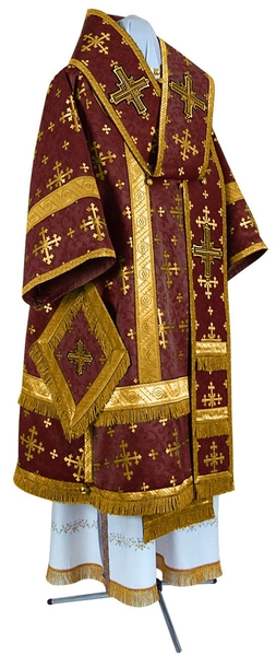 Bishop vestments - metallic brocade BG1 (claret-gold)