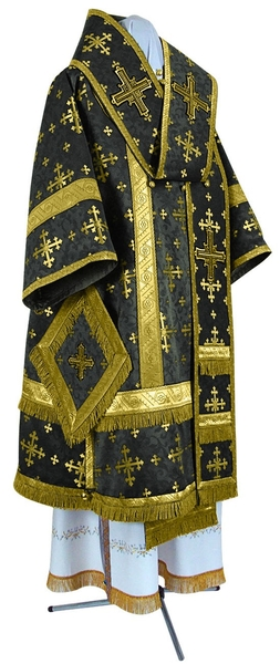 Bishop vestments - metallic brocade BG1 (black-gold)