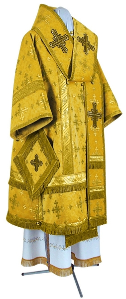 Bishop vestments - metallic brocade BG1 (yellow-claret-gold)